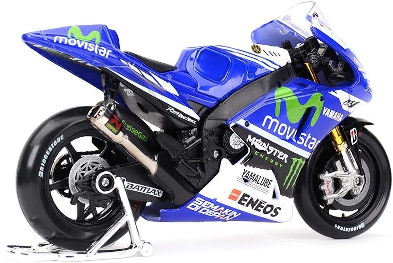 edición limitada GLJJQMY Modelo de Juguete de Motocicleta 2014 Yamaha No. No. No. 99 Locomotora de Cocheretera Simulación de aleación Modelo de Motocicleta Colección Regalos  alta calidad