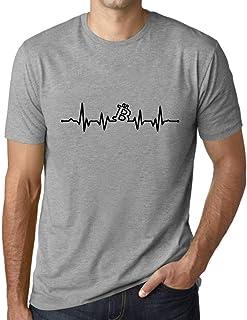 Ultrabasic® Graphic Men's Bitcoin Heartbeat T-Shirt BTC HODL Tee Crypto Gift Idea