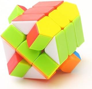 مكعب فيشر كيوب بدون ملصقات مكعب سحري مشرق لون فيشر كيوب v2 ييلنغ 3x3x3 سرعة مكعب لغز