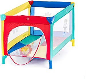 BAIbai Playpens Portable Playard Baby Fence Household Shatter Resistant Toys Portable Folding Washable Oxford Cloth Toddler Crawling Mat Carpet  Balls Not Included and Mats