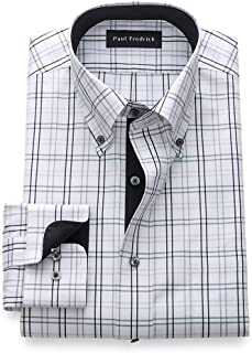 Men's Classic Fit Non-Iron Cotton Tattersall Dress Shirt