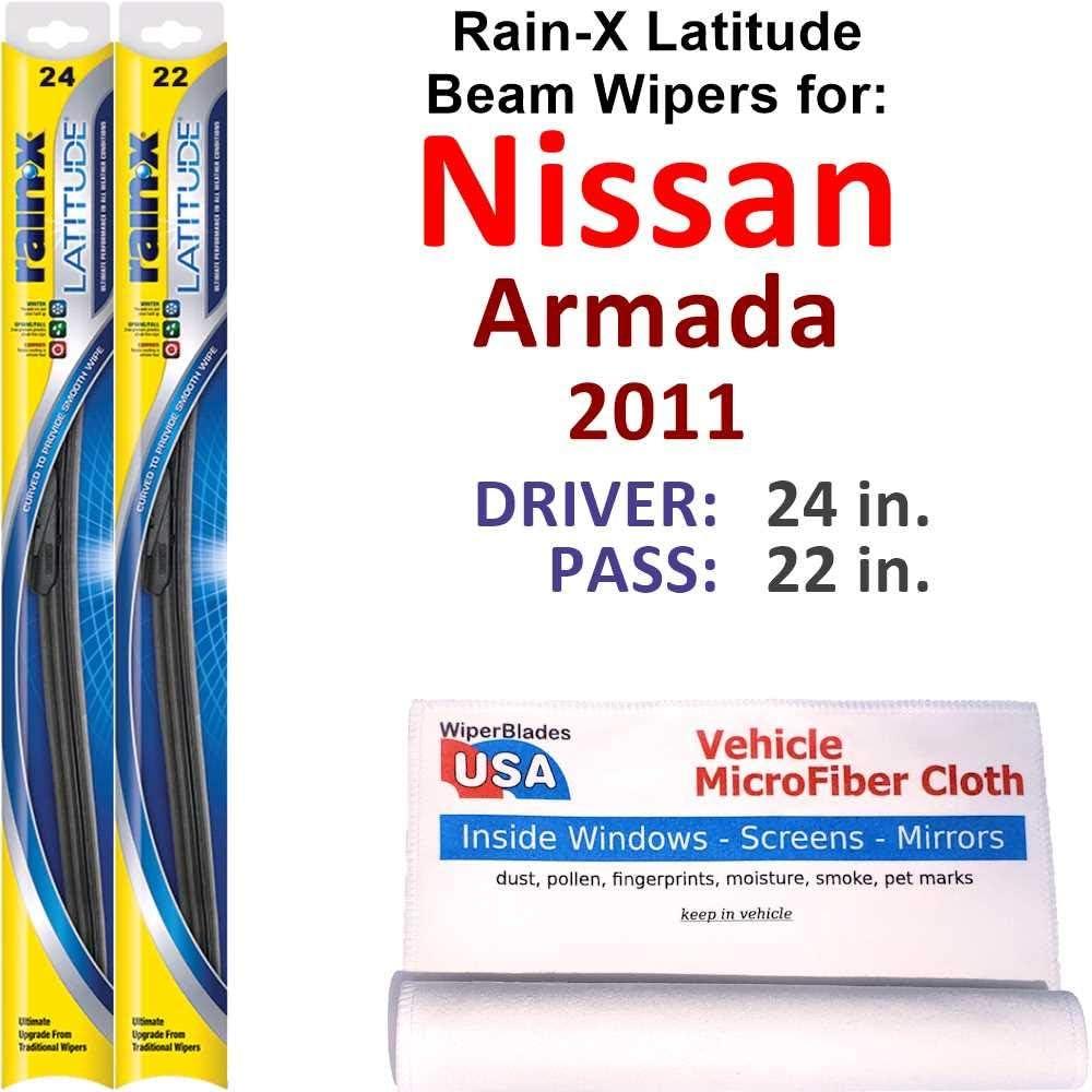 El Paso Mall Rain-X Latitude Beam Wiper price Blades for Rai Set Nissan Armada 2011