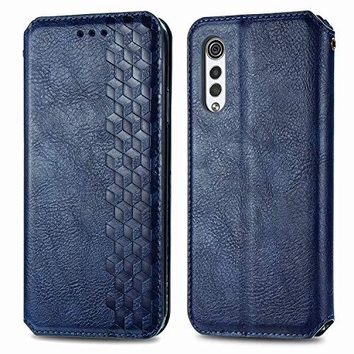 Trugox Wallet Case for LG Velvet 2020 [NOT for Velvet 5G Verizon/T-Mobile] with Card Holder Stand Flip Case Cover Men Women Thin Fit Protective Leather Phone Case for LG Velvet - TRSDA120486 Blue