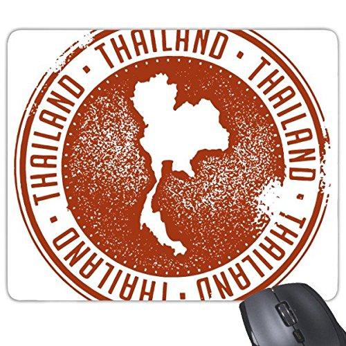 DIYthinker Koninkrijk Van Thailand Thaise Traditionele Douane Cultuur Ik hou van Thailand Kaart Kunst Illustratie Rechthoek Antislip Rubber Mousepad Game Mouse Pad