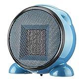 YBZS Montado En La Pared 900W Mini Portátil-Calentador Eléctrico, Calentador De Escritorio/El Hogar/Oficina/Calentador/Ventilador del Radiador Baño/Calefacción,Azul