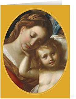 Religious Christmas Cards Boxed Holiday Cards Christmas Greeting Cards and Envelopes, Madonna and Child by Procaccini Greeting: Joyous Christmas Pk 20