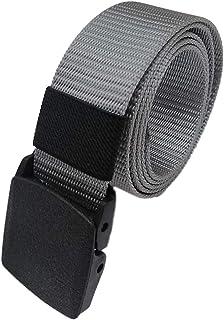 CANAMETI Cintura automatico fibbia in nylon - Lunga cintura traspirante per gli uomini - Esercito maschile tattico cintur...