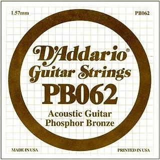 D'Addario PB062 Phosphor Bronze Wound Acoustic Guitar Single String.062