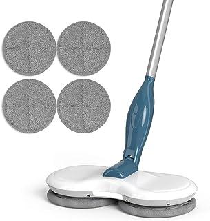 Balai de vadrouille électrique rotatif sans fil Pour nettoyer et polir les sols carrelés durs, le double rotateur recharge...