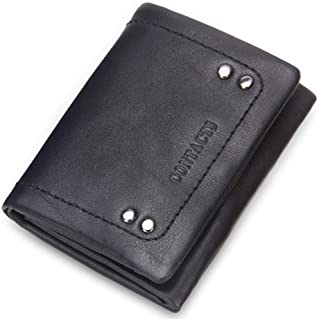LDUNDUN-BAG, 2019 Fashion Leather Card Bag Rivet Decorative Small Coin Purse Men's Handbag Men's Wallet (Color : Black, Size : S)