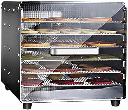 Máquina de conservación de alimentos para el hogar Deshidratador de frutas, pantalla táctil electrónica Control de temperatura Sincronización Acero inoxidable Bandeja de 6 capas Comida comercial Secad
