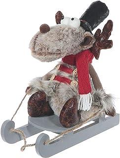 IH CASADECOR Prancer The Reindeer Plush On Sled, Multi
