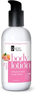 BV Spa by Bon Vital' Moisturizing Body Lotion, Pink Grapefruit Scented Body Silk for Dry Skin Repair, Anniversary for Women, Moisturizer with Essential Oils for Soft Skin