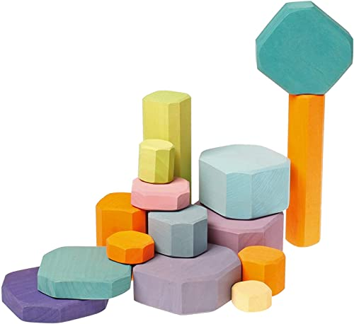 Grimm's Tree Slices - First boisen Building Blocks Set for   & Toddler in Pastel Couleurs