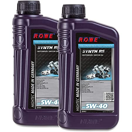 2 2x1 Liter Rowe Hightec Synth Rs Sae 5w 40 Auto