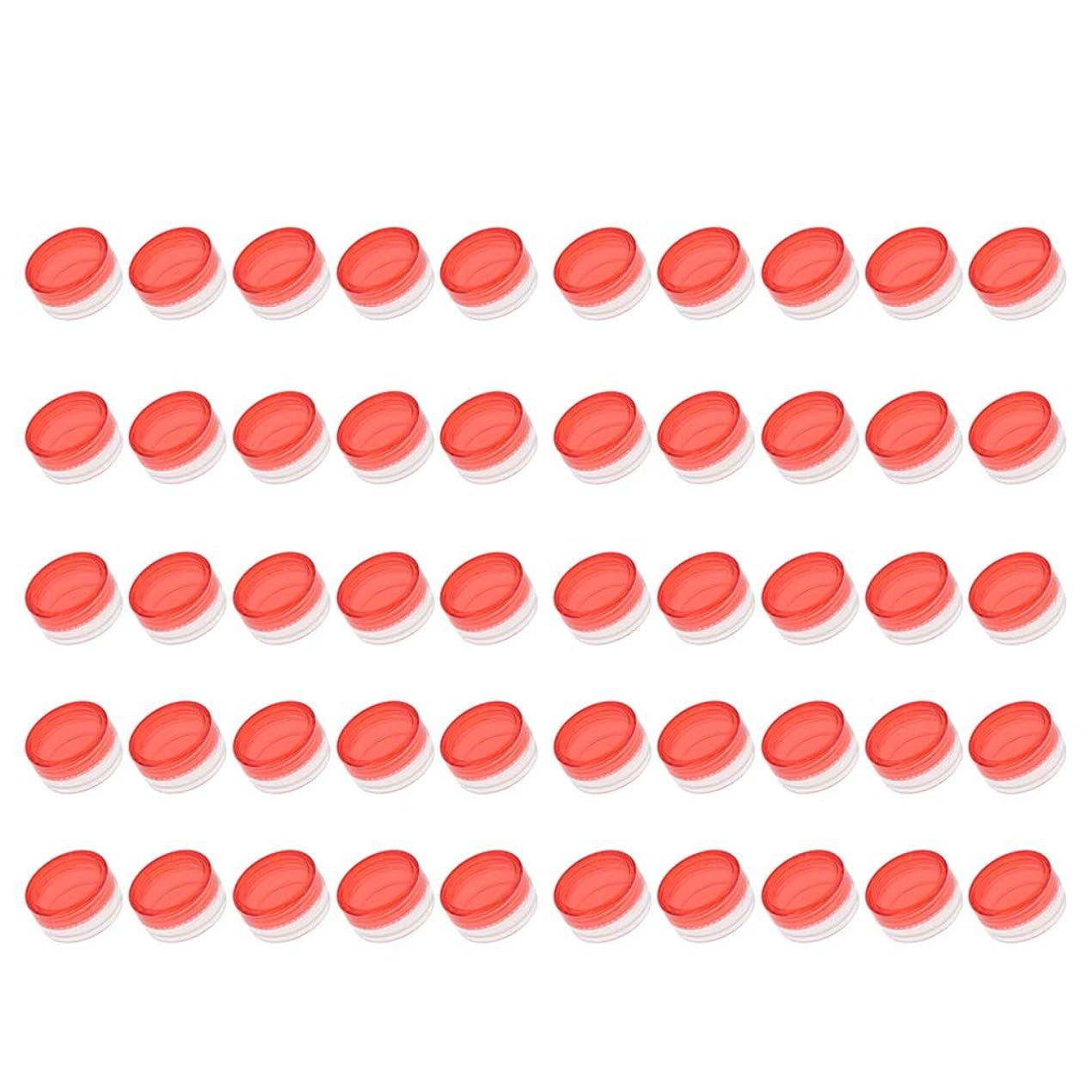 重要な役割を果たす、中心的な手段となるアイザック自分自身P Prettyia クリームジャー クリームケース 化粧品 小分け 詰替え 容器 約50個 - 赤