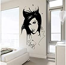 Wall Sticker Amy Winehouse Wall Decal Sticker Beauty Salon Salon Interior Decoration Mural Detachable Living Room Decoration Sticker 42X62Cm