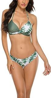 Women Bikini Sets Two Piece Swimsuit Women Push Up Halter Bikini Swimwear Beachwear Printed Bathing Suits
