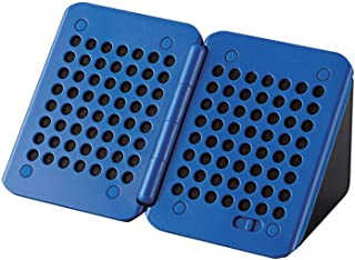 エレコム コンパクトスピーカー キューブ型 300mW×2 電池式 ブルー×ブラック ASP-SMP220BBK