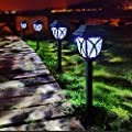 LAMTREE Solar Lights Garden Outdoor (Classic) LED Solar Path Light Ground for Lawn Landscape Patio Yard Pathway Walkway Driveway Sideway (Cool White, 8 Packs)