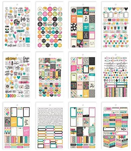 Simple Stories 7956 Carpe Diem Good Vibes - Mini pegatinas, multicolor