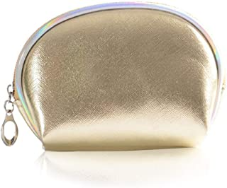 Victray Travel Makeup Bag Cosmetic Bag Portable Waterproof Pouch Purse Handbag with Zipper for Women and Girls (Gold)