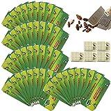 50 Piezas Trampas Cucarachas, Incluir gránulos de cebo para Alimentos Pegajosa Colector de Cucarachas Bolsa Cucarachas Trampa Adhesiva para Cocina y Sala(50 pcs)