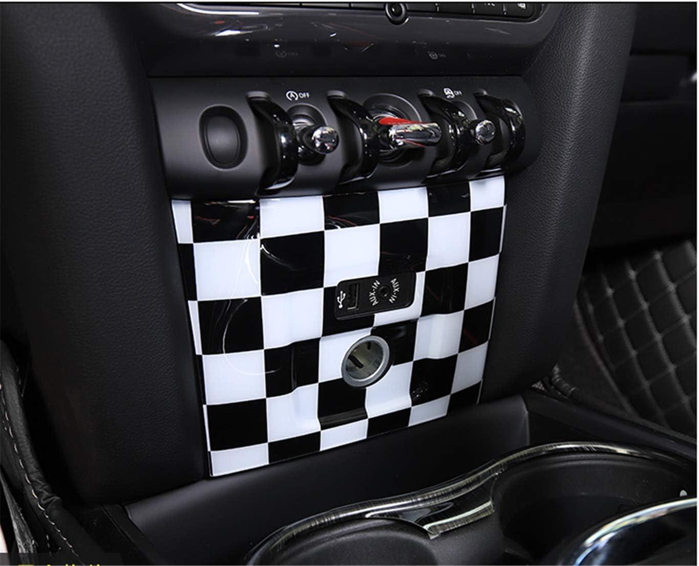 Guida a Sinistra HDX Adesivo Nero e Bianco a Scacchi in ABS per Mini Cooper One S JCW F Series F60 Countryman 2017