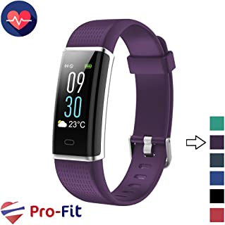 Pro-Fit Fitness Tracker, Activity Tracker with Color Screen, Heart Rate Monitor, 14 Sports Modes & Sleep Monitor, IP67 Waterproof Pedometer Watch, VeryFitPro Smart Wristband, Android & iOS
