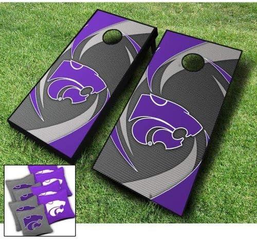 Kansas State Wildcats Swoosh Bargain Gifts sale Themed Wraps Cornhole Board Bea Set