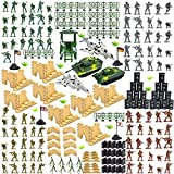 Wankko 250 Pcs Military Figures and Accessories, Army Men Action Figures Army Toys Set Military Toy Soldier Playset Toy Army Soldiers