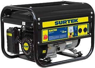Surtek Gg518 Surtek Generador a Gasolina de 120 V, con Cilindrada de 163 CC, Potencia 1800 W, Motor con 6.5 Caballos de Fu...
