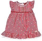 BONDI Vestido regional para niña 86436 | rojo/blanco – Vestido de verano infantil con flores bordadas rojo/blanco 18 meses