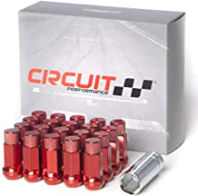 Circuit Performance Forged Steel Extended Hex Lug Nut for Aftermarket Wheels: 1/2