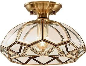HN Lighting Full Copper Ceiling Lamp European Led Hanging Lamp Balcony Corridor Fixture Modern Minimalist Porch Ceiling La...