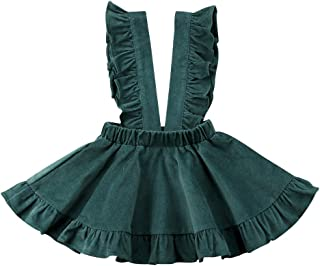 Toddler Baby Girls Strap Suspender Skirt Overalls Dress Outfit