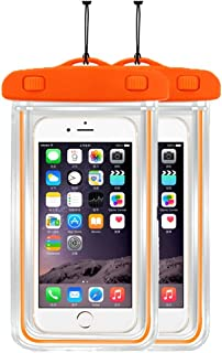 2Pack Waterproof Case Universal CellPhone Dry Bag Pouch CaseHQ for Apple iPhone 6S, 6, 6S Plus, SE, 5S, Samsung Galaxy S7, S6, HTC LG Sony Nokia Motorola up to 5.7
