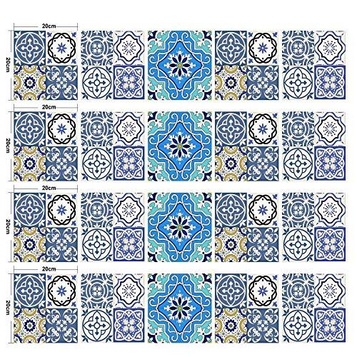 Pegatinas De Azulejos De Mosaico Creativos Empalme Decoración Papel Pintado Cocina Dormitorio Impermeable Y A Prueba De Aceite Pegatinas De Pared 20 Cm * 20 Cm * 20 Piezas