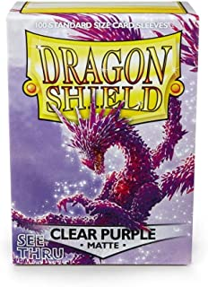 Arcane Tinman Card Sleeves: Dragon Shield Matte Clear Purple