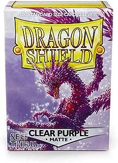 Arcane Tinman Card Sleeves: Dragon Shield Matte Clear Purple