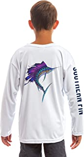 Youth Fishing Shirt for Kids Boys Girls Long Sleeve UV