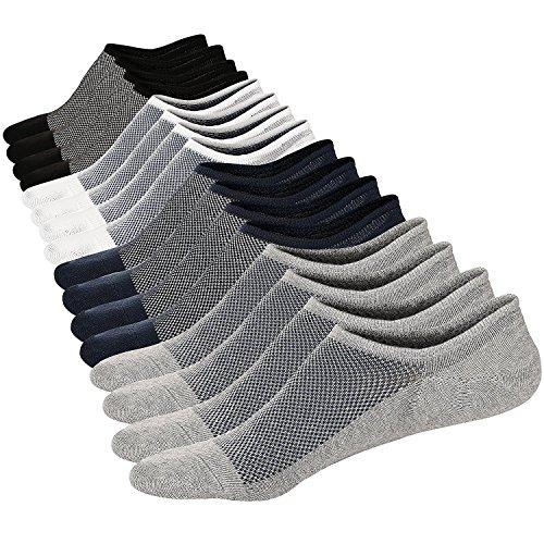 Sneaker Ballerina Socken Atmungsaktiv Herren Unsichtbar Kurzsocken Baumwoll Knöchelsocken Sportsocken