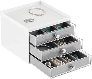 mDesign pudełko na biżuterię – plastikowy organizer na