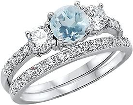 Best aquamarine wedding ring set Reviews