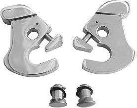 Rotary Latch Cam Lock Kit for Harley Davidson Detachable Side Plates Luggage Racks Tour Pack Racks - Chrome