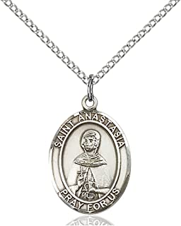 bliss Sterling Silver Catholic Saints Medal Pendant, 3/4 Inch