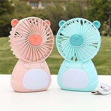 Mmyu Mini Fan Tripod Handheld Fan USB Portable Outdoor Portable Desktop Fan Green