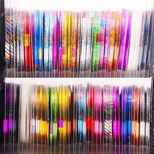 3 Rollen/Beutel 1MM 2MM 3MM Glitterrollen in gemischter Größe Striping Tape Line Nail Art Tipps Dekoration Aufkleber Aufkleber Werkzeuge