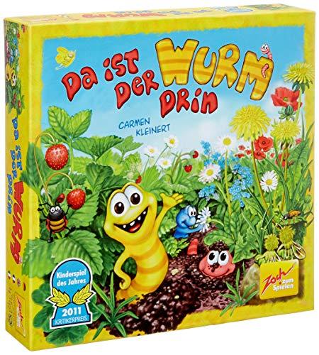 Zoch 601131835AMA - Da ist der Wurm drin und 15 Holzfarbwürfel - Kinderspiel des Jahres 2011 - kinderleichtes und gewitztes Würfel- und Beobachtungsspiel, ab 4 Jahren