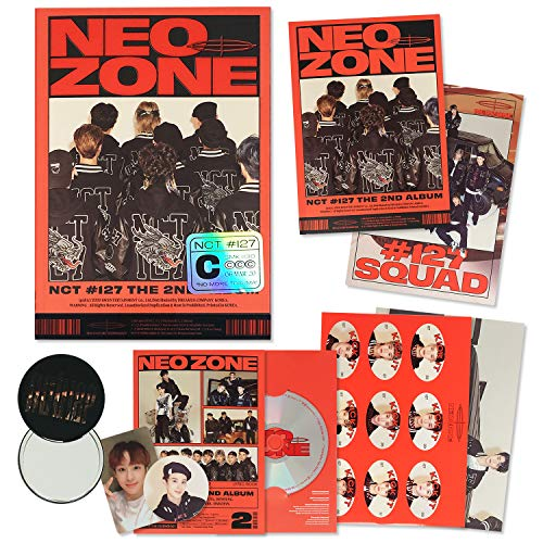 NCT 127 2nd Album - NCT # 127 NEO ZONE [ C ver. ] CD + Photobook + Lyrics Book + Postcard Posters + Sticker + Folding Poster + Photocard + Circle Card + FREE GIFT / K-POP Sealed